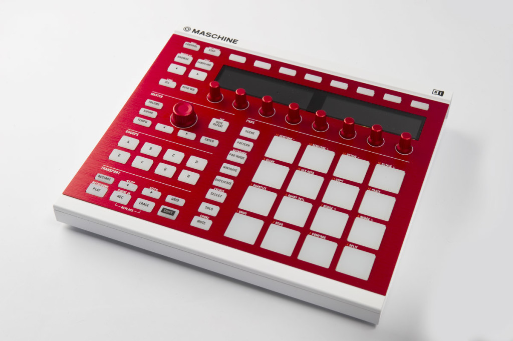 NI Maschine MK2 White with Custom Dragon Red